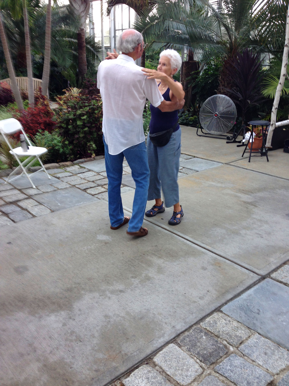 Couples dance to the lively music of The Magnolia Cajun Band