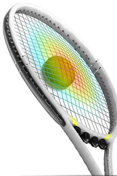 Adding Pojie to your racquet gives you maximum string deflection on ball impact, leading to longer dwell time.