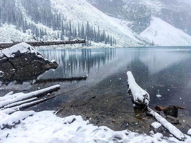 Winter is here. #banff #morainelake #canada