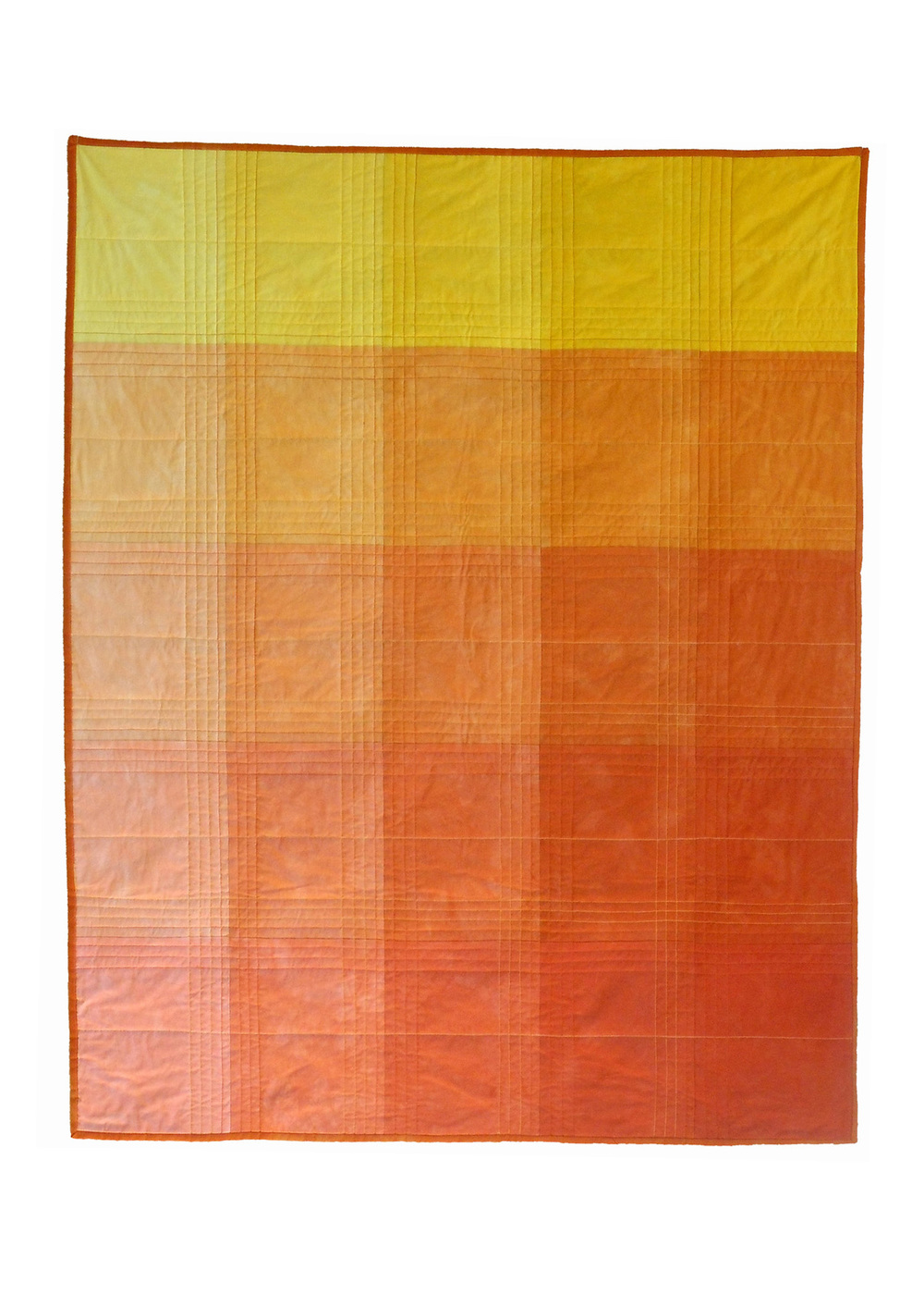 Orange Color Block Quilt