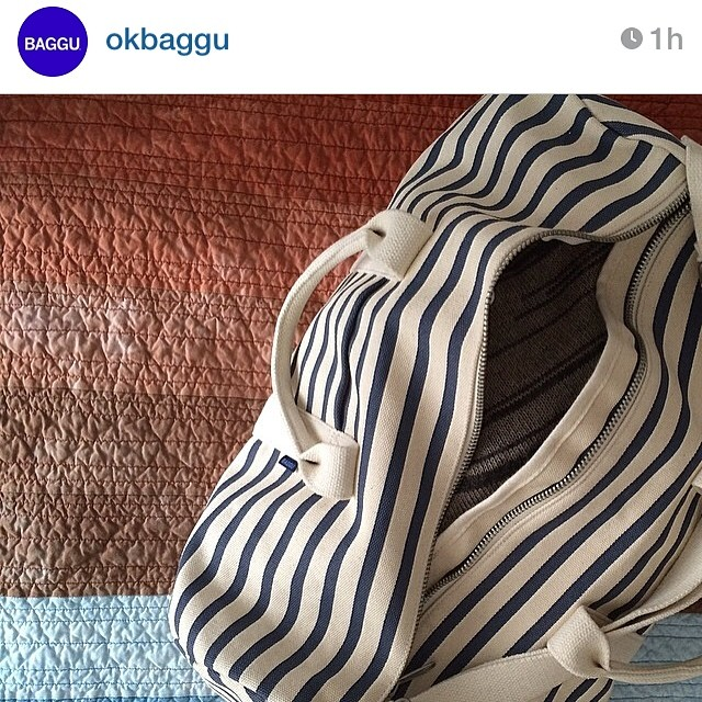 Regram from @okbaggu. That's my quilt in the background!