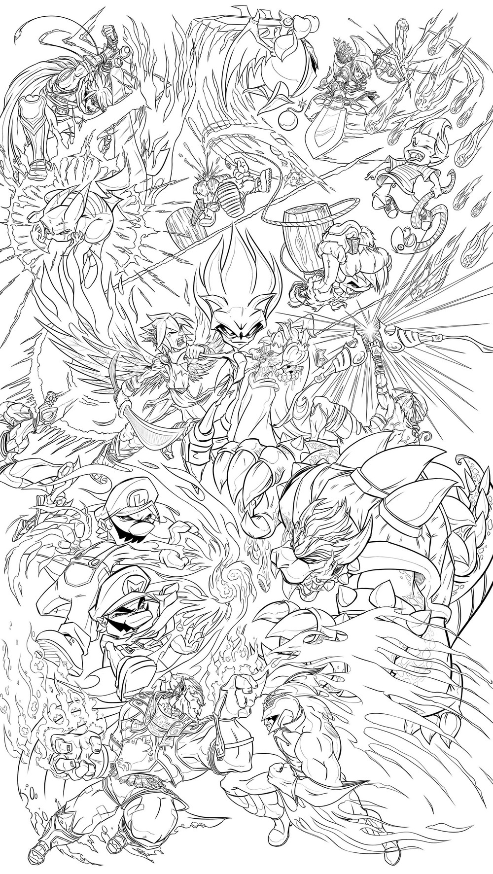 ...smash bros tattoo commission ink stage...
