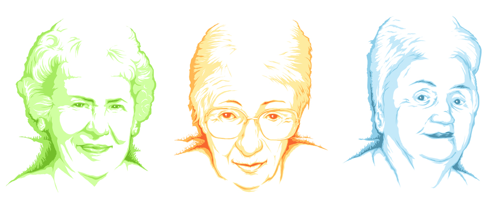 ...3 christmas portraits for 2013 of my grandmothers...