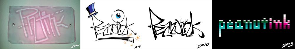 ...peanutink logos 2001-2014...