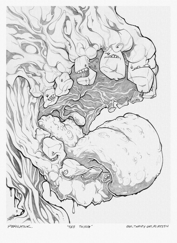 """...weekly sketch series #3 - """"tee thing"""""""