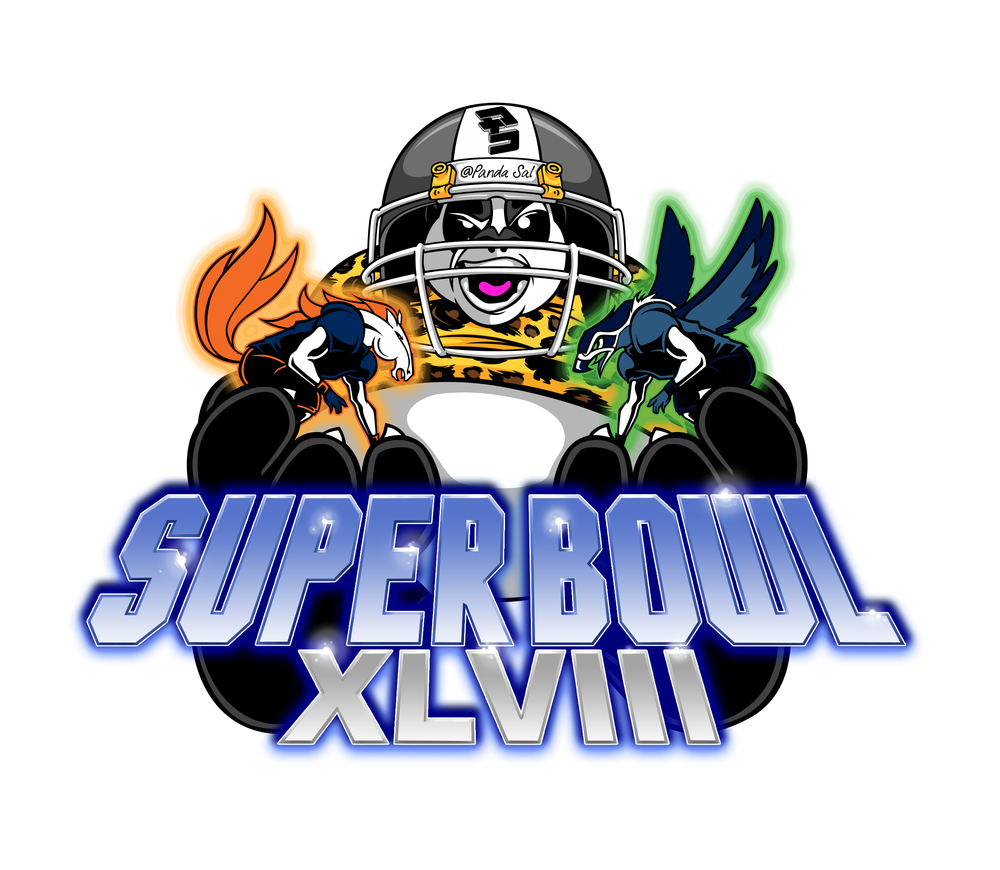 ...super bowl sticker design for Panda Sal/BUSOG apparel...