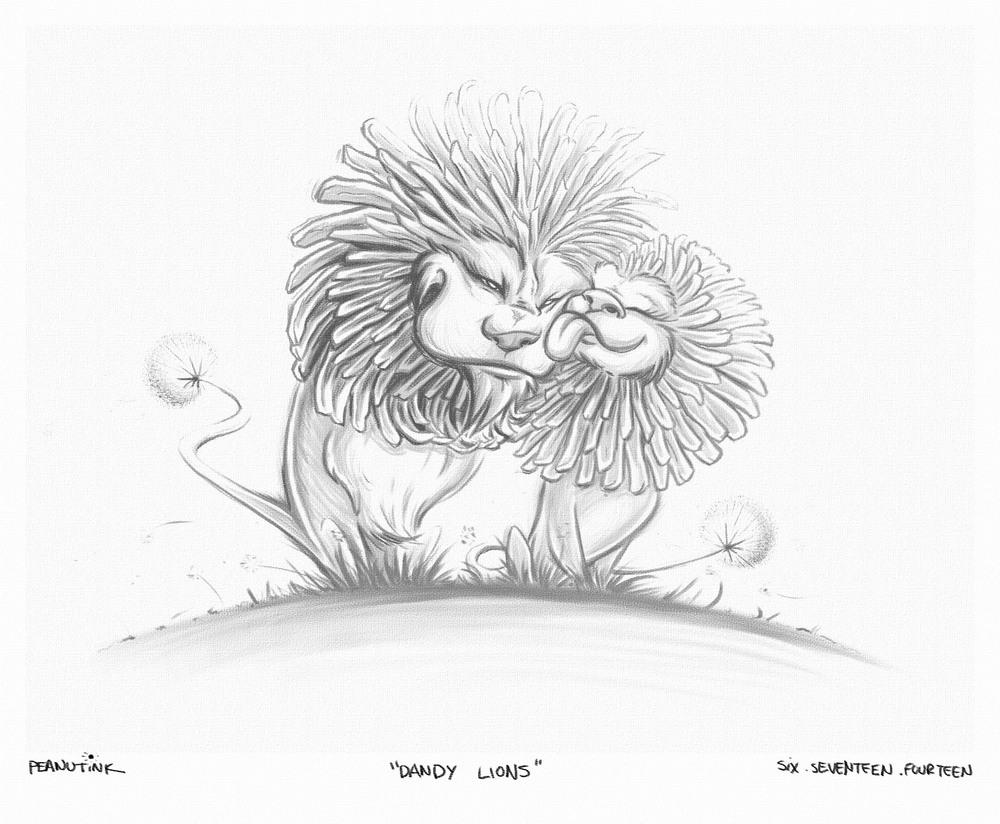 """...weekly ink #23 - """"dandy lions""""..."""