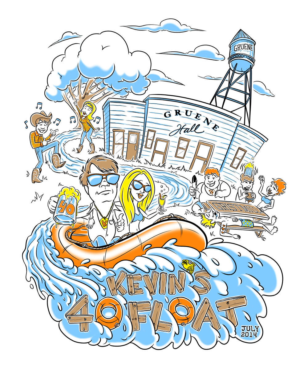 "...""kevin's 40 float"" t-shirt graphic..."
