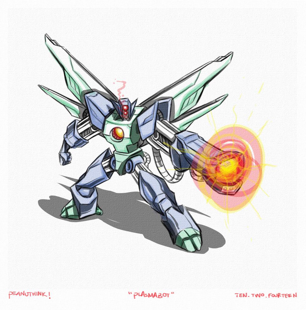 """...weekly ink #38 - """"plasmabot""""..."""