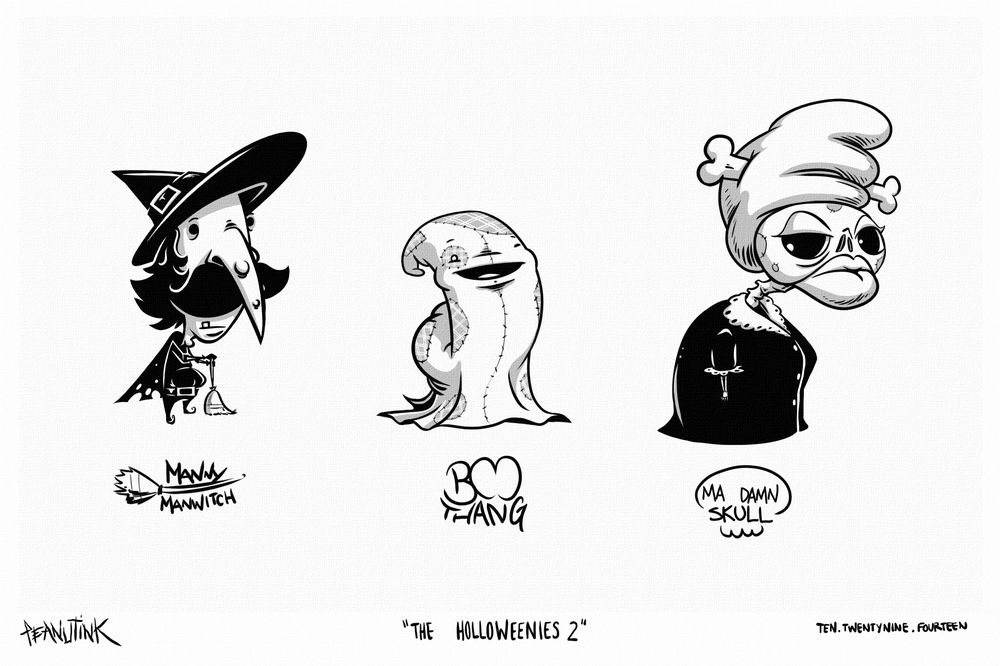 "...weekly ink #41 - ""the holloweenies 2""..."
