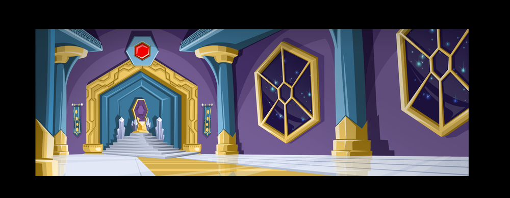 ...throne room background...