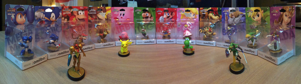 ...amiibo collection so far...