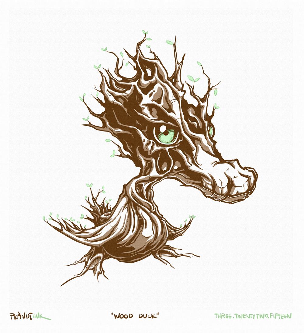 """...weekly ink #55 - """"wood duck""""..."""