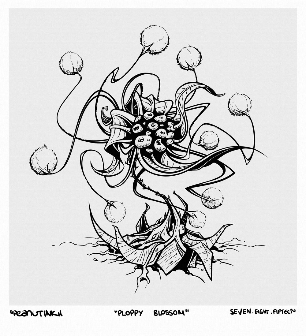 "...weekly ink #70 - ""ploppy blossom""..."