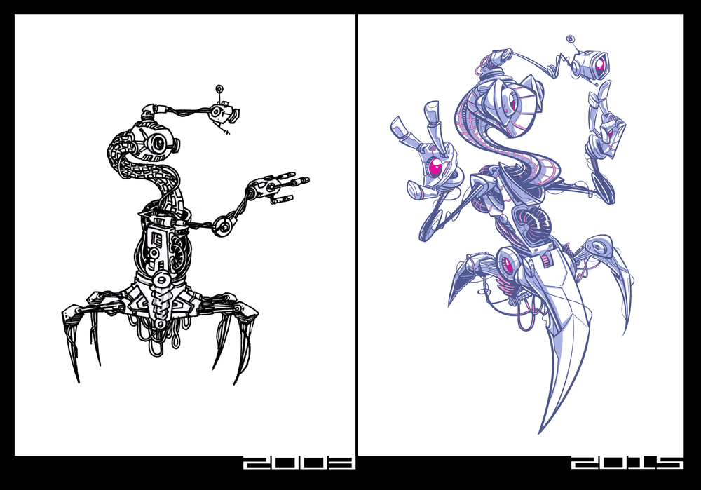 ...12 year sketch comparison...