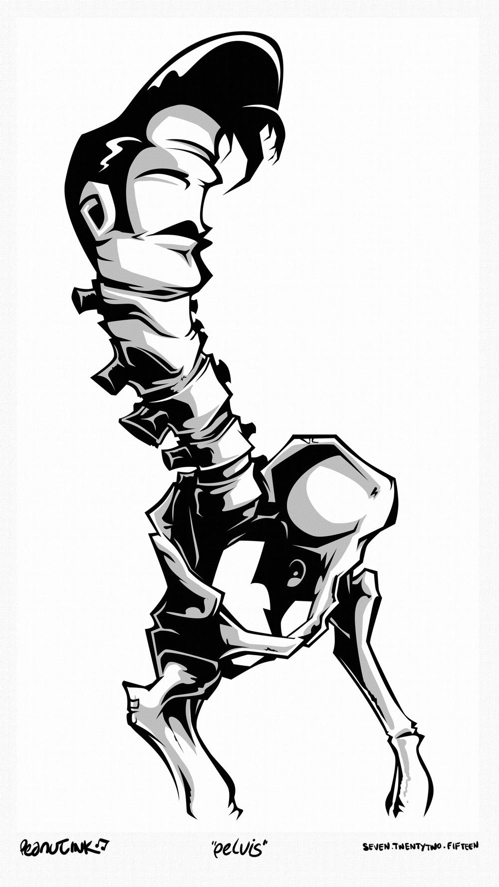 """...weekly ink #77 - """"pelvis""""..."""