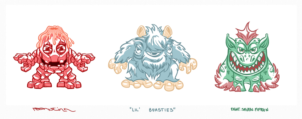 "...weekly ink #82 - ""lil' beasties""..."