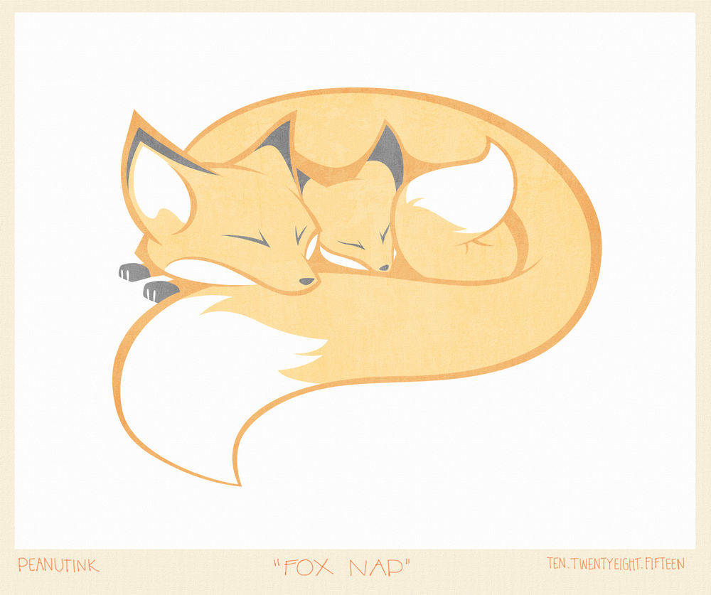 "...weekly ink #97 - ""fox nap""..."