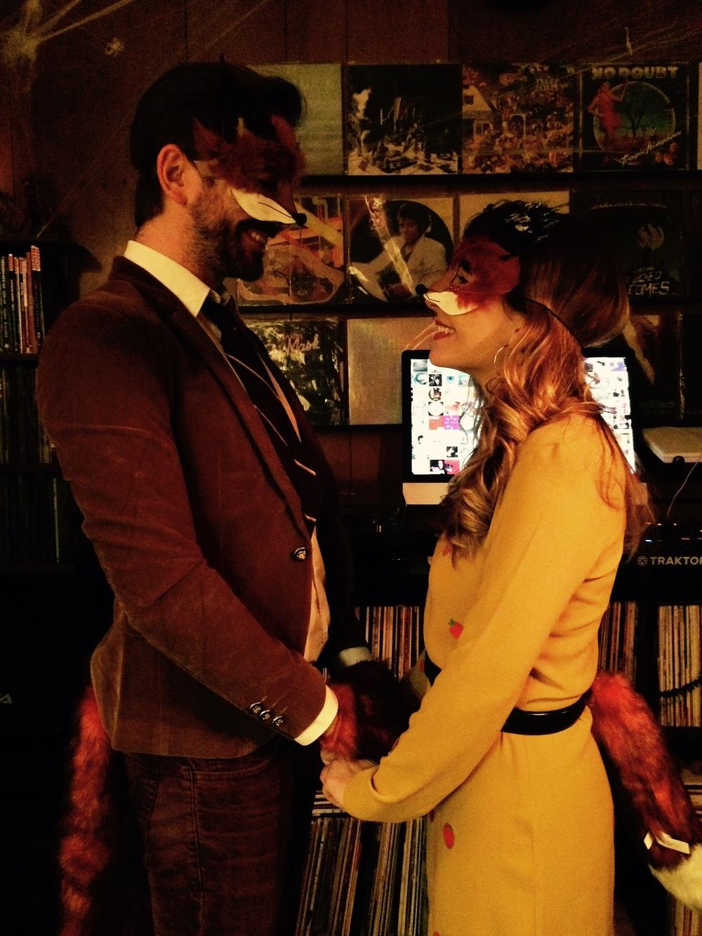 ..fantastic mr. & ms. fox costumes..