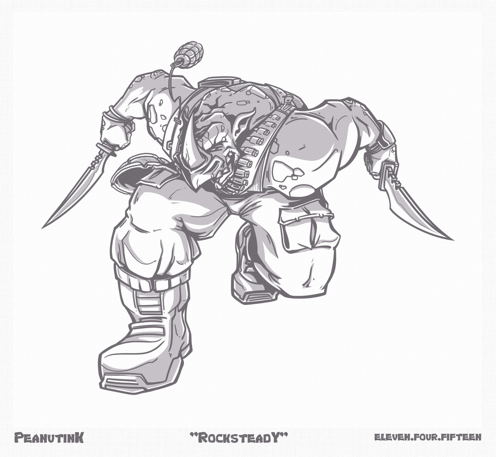 "...weekly ink #99 - ""Rocksteady""..."