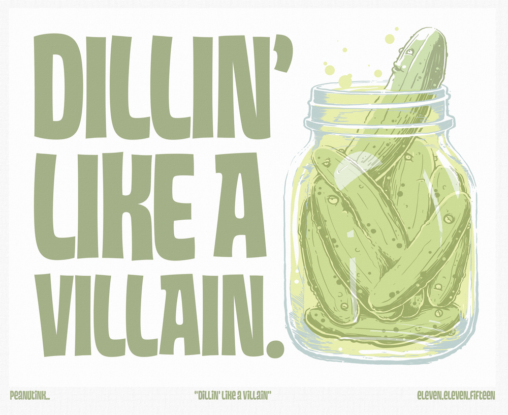 "...weekly ink #101 - ""dillin' like a villain""..."