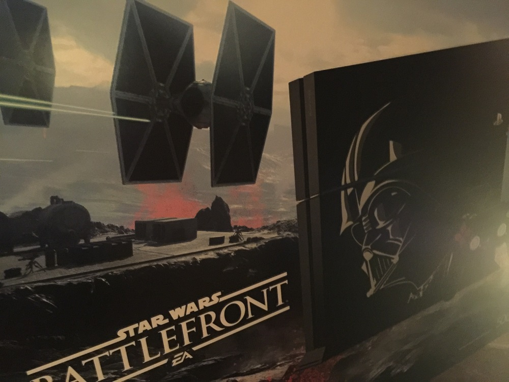 ...star wars battlefront deluxe PS4 bundle..