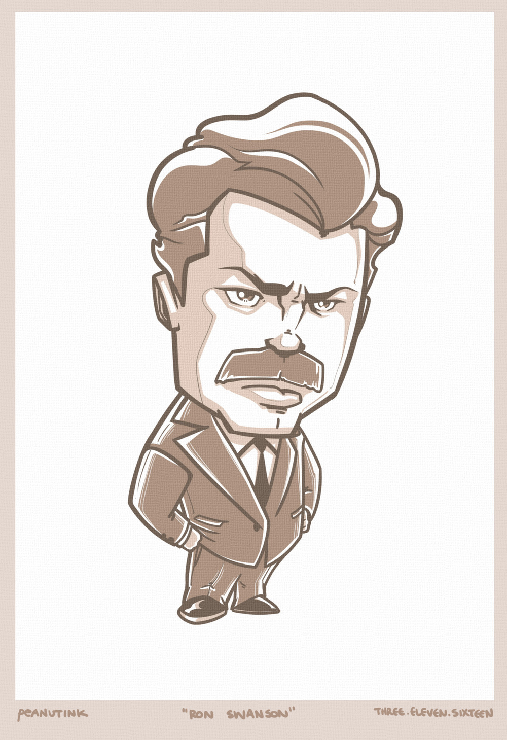"...weekly ink #112 - ""ron swanson""..."
