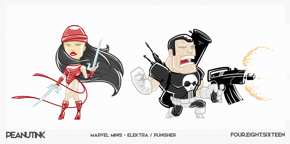 "...weekly ink #116 - ""marvel minis - Elektra / Punisher""..."
