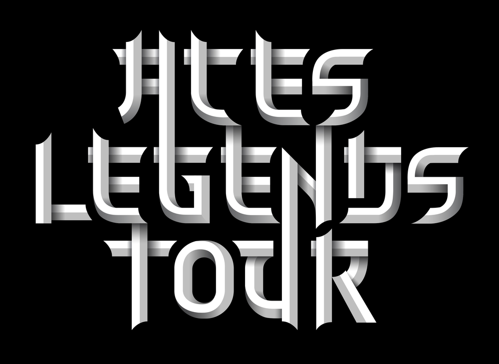 ...Aces Legends Tour font...