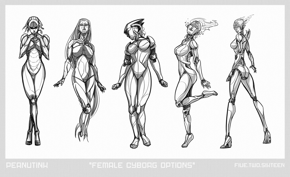 "..weekly ink #120 - ""female cyborg options"".."