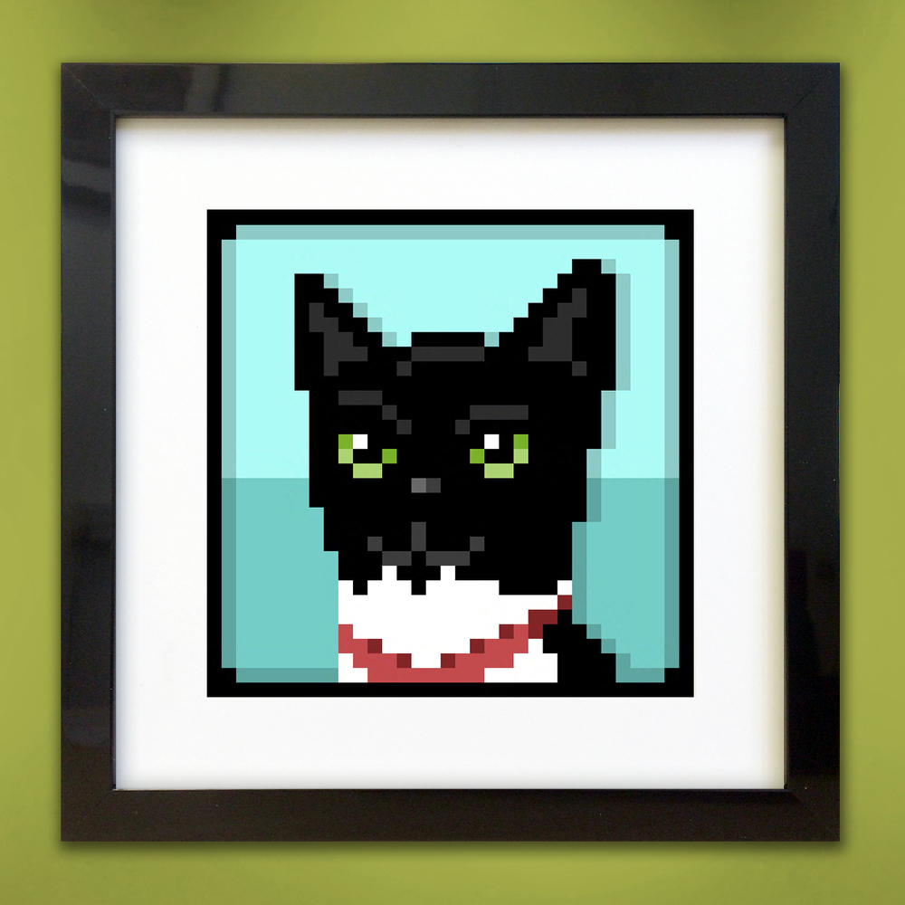 pixel pet portrait - Coco