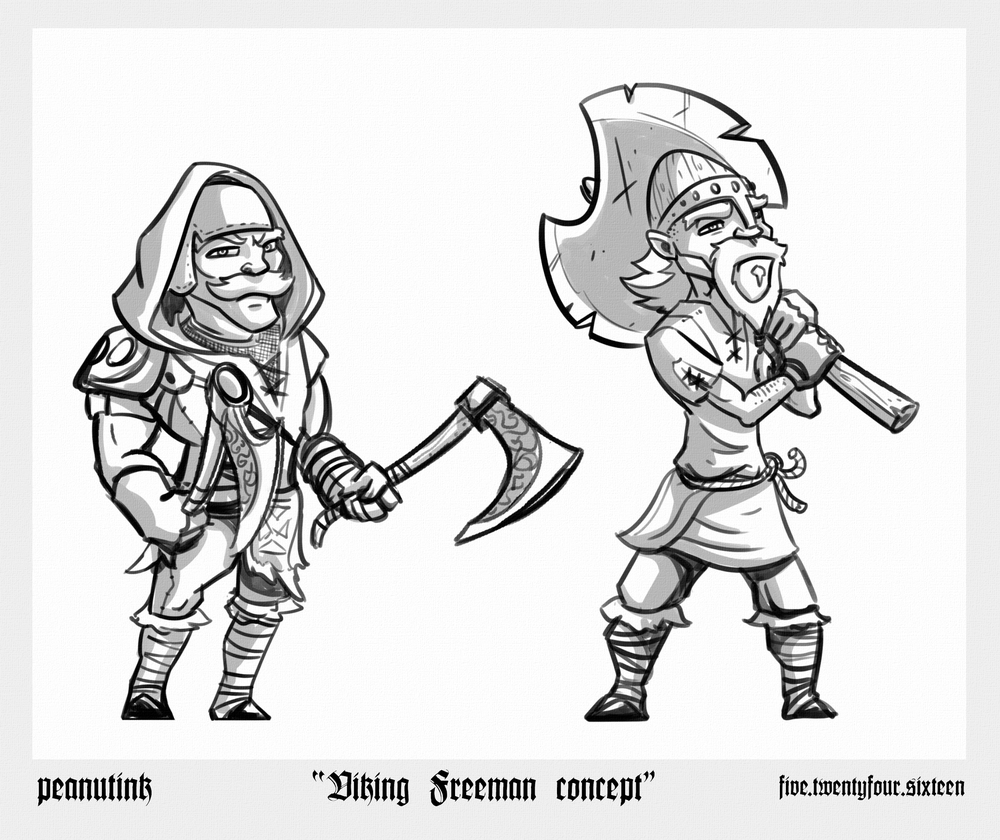 "..weekly ink #122 - ""viking freeman concept"".."