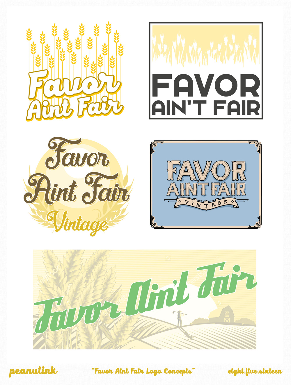 "..weekly ink #136 - ""Favor Ain't Fair Logo Concepts"".."