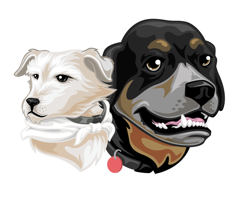 Stylized_Scooter&Rottie_8x10.jpg