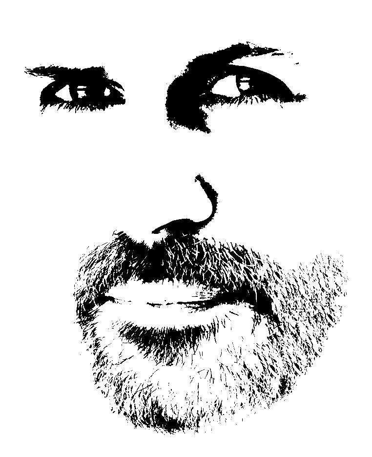 Lara Head Shot BW Line Art. beard.jpg