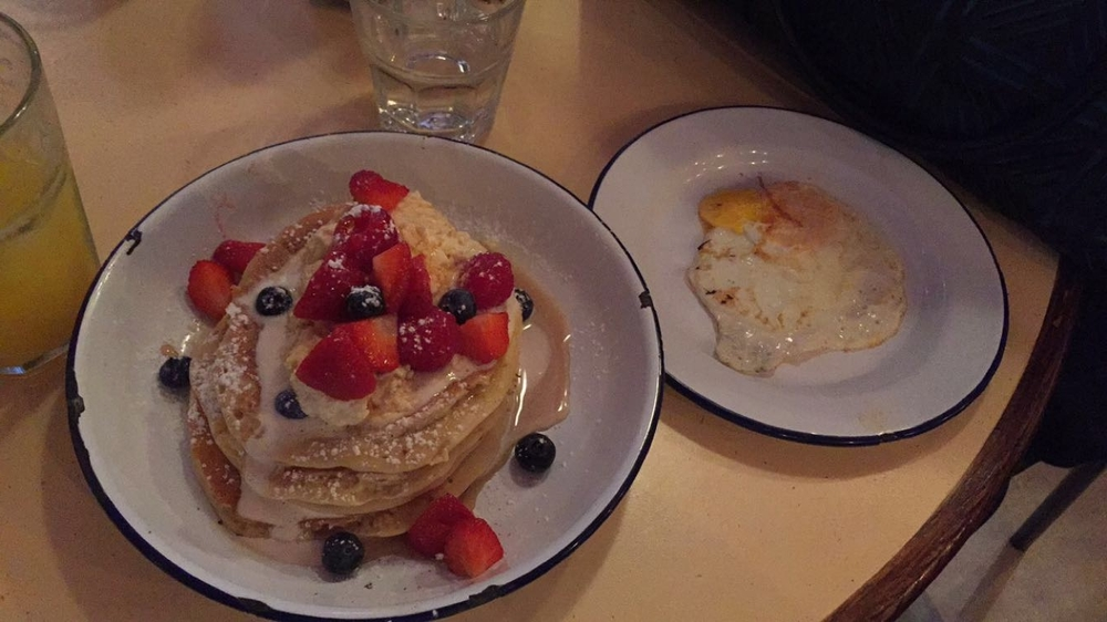 pancakes at Breakfast Club