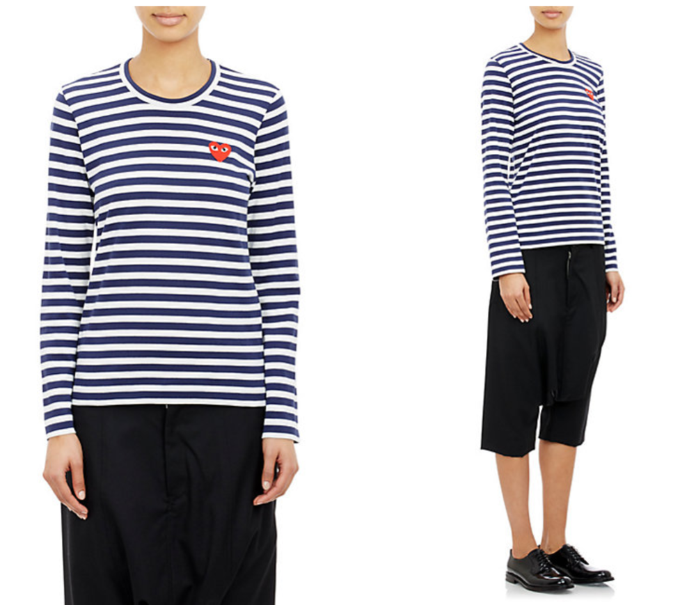 Commes de Garçons Striped long T-shirt