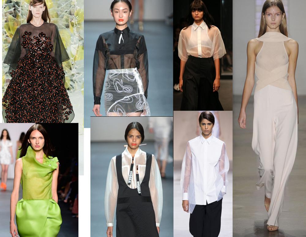 Clockwise strating from the topmost left. Delpozo, Concept korea, Chiaro Boni La Petite Robe, Hugo Boss, Concept Korea and Angel Sanchez