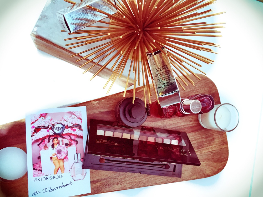 Flowerbomb and makeup from Lancome Paris