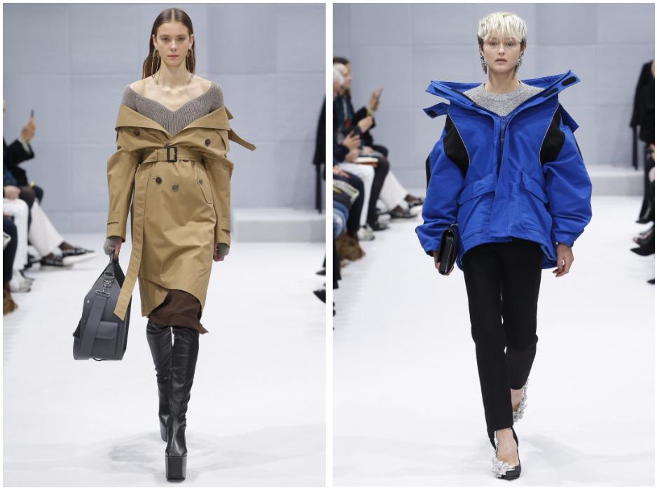 Slouchy coats from Balenciaga c/o Vogue Runway