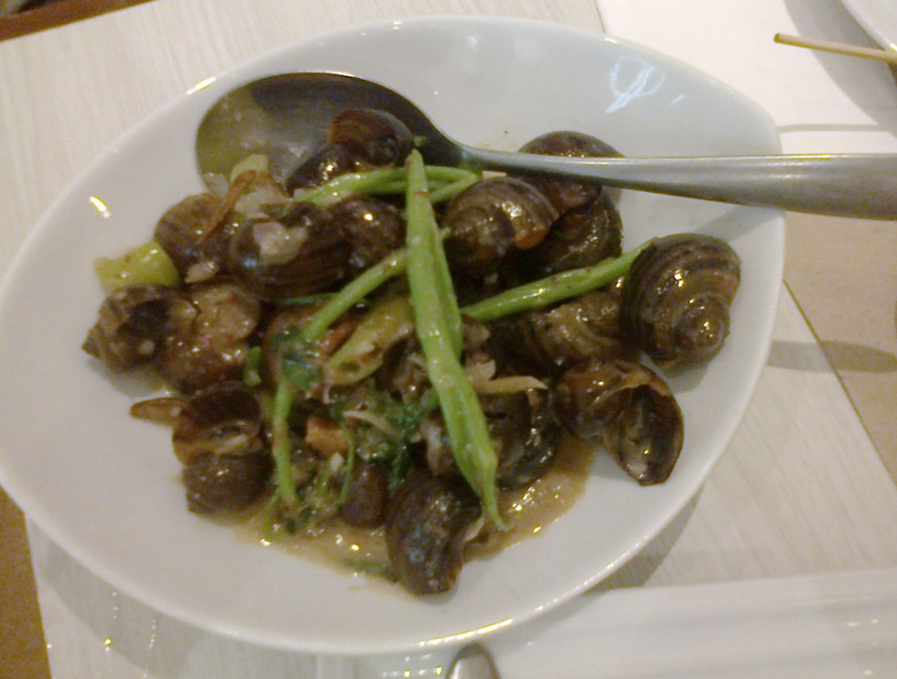 Snails cooked in Coconut Milk