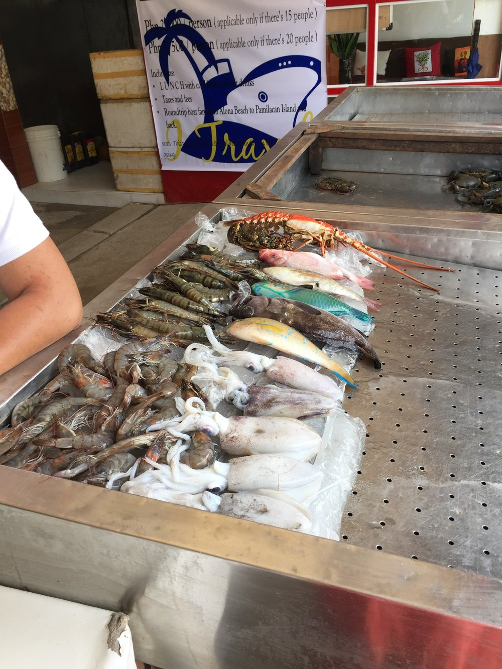 Fresh Catch for the day in the Alona Sea Market