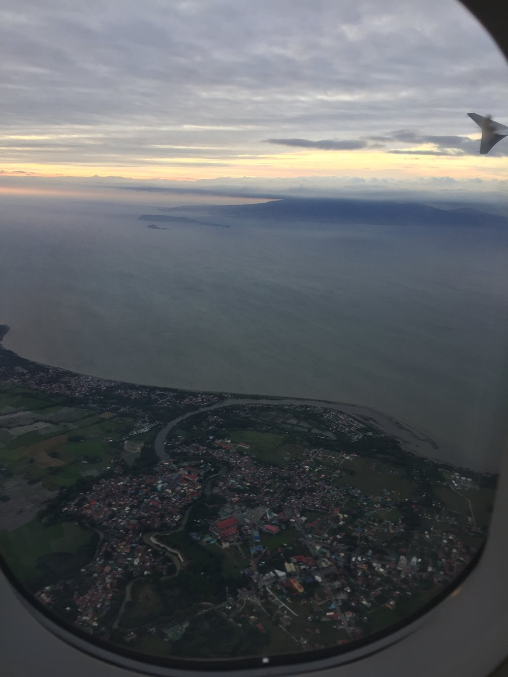 View of Bohol from a plane