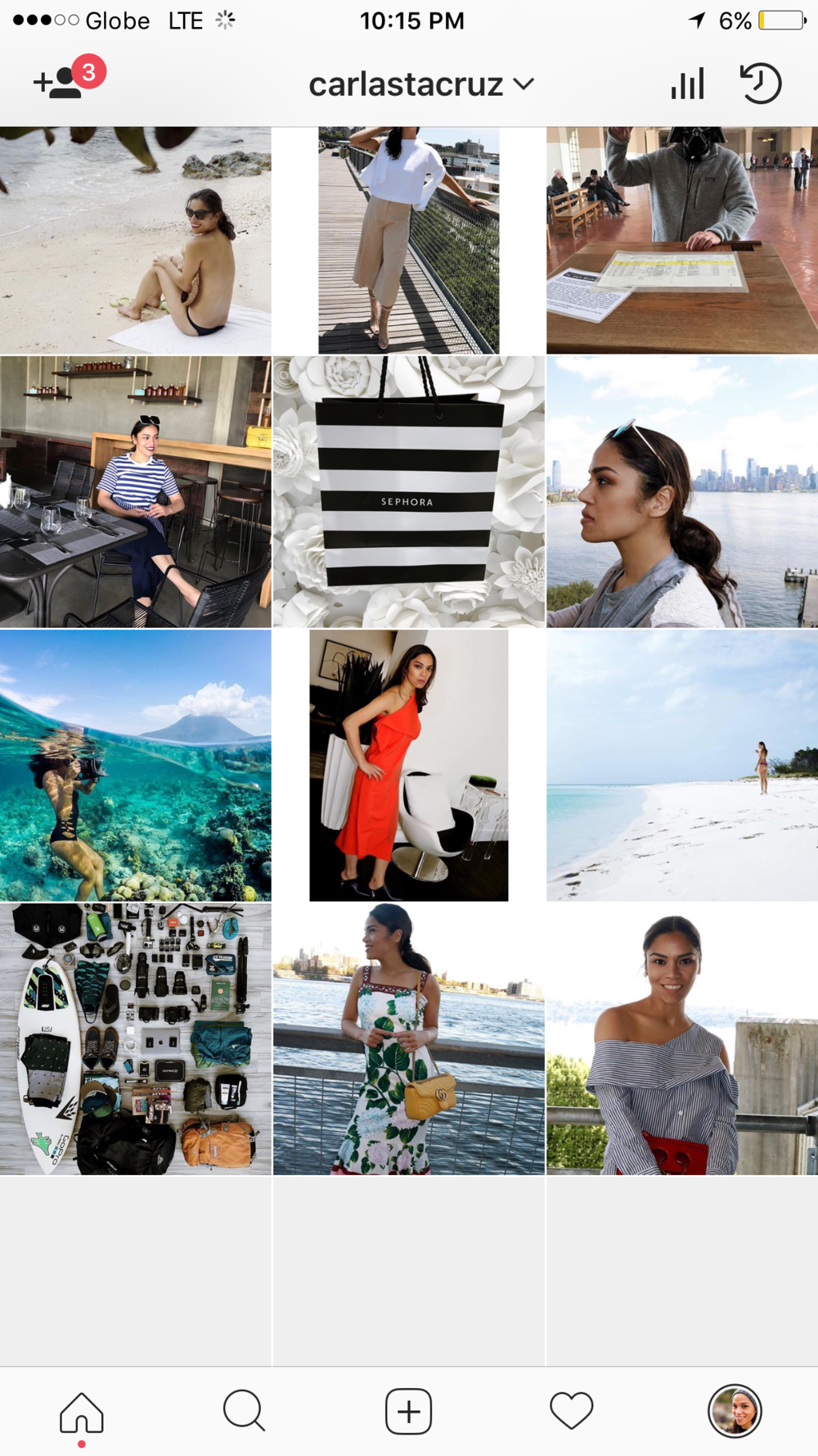 Carla Sta Cruz' Instagram account