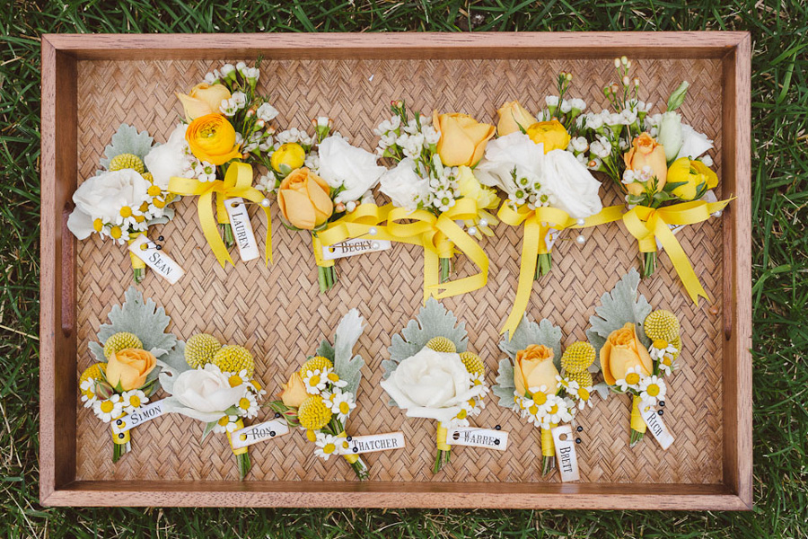 yellow wedding flowers blue horse farm studio fleurette