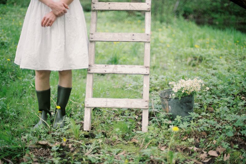 rubber boots with white dress, studio fleurette, emily steffen photography.jpg