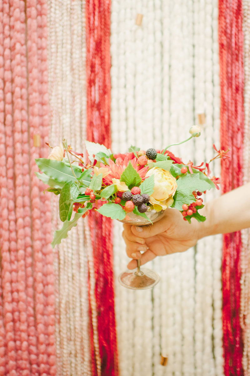 tassel backdrop, studio fleurette, minneapolis florist