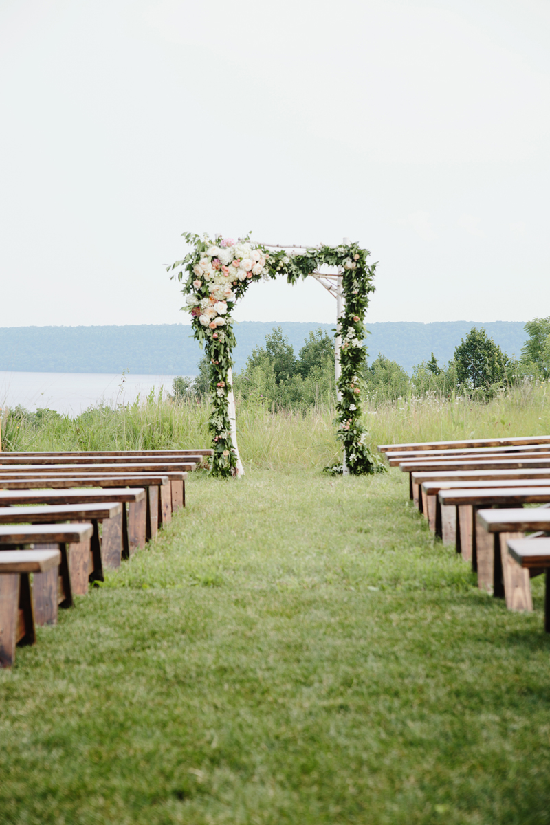 wedding ceremony flowers, wedding arch flowers, studio fleurette, birch arbor.jpg
