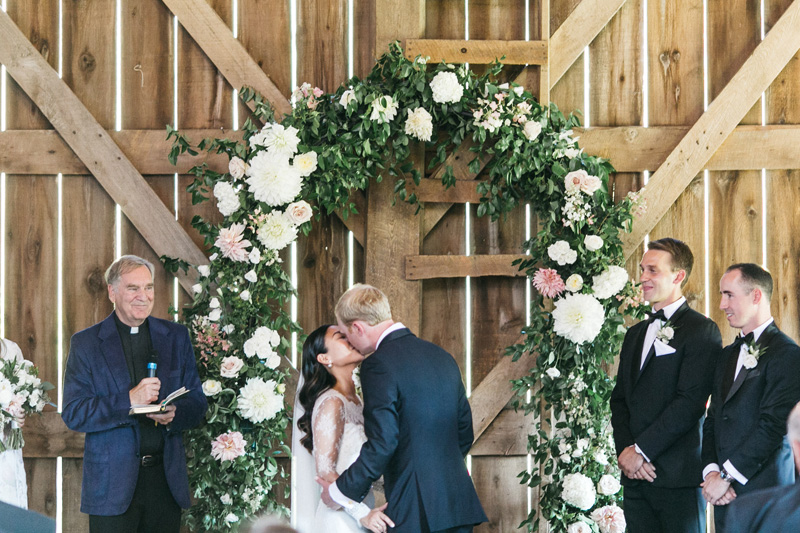 dahlia wedding flowers, dahlia wedding arch, romantic wedding arch, wedding ceremony arch, studio fleurette, birch hill barn.jpg