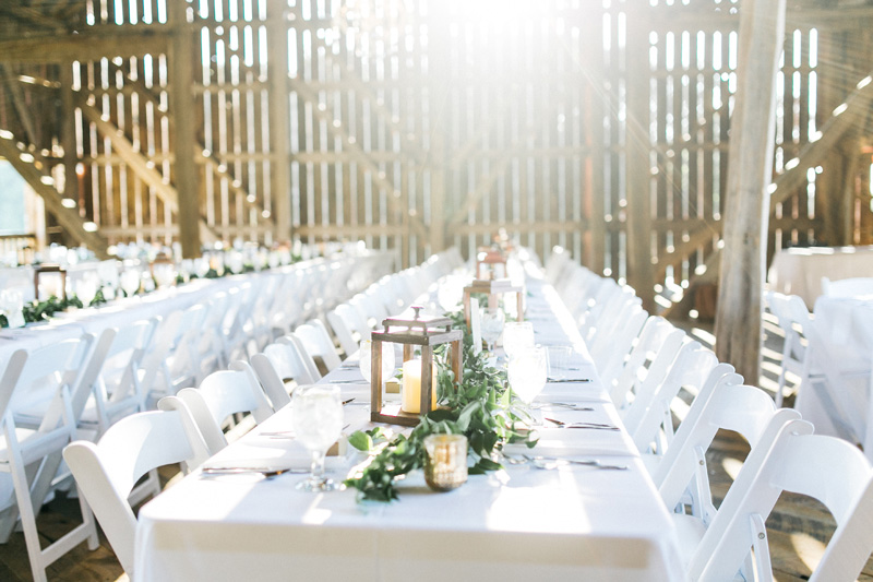 greenery floral table runner, rustic wood lanterns, rustic wedding decor, studio fleurette, styled greenery wedding reception,.jpg